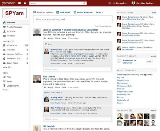 The SharePoint Community on Yammer - buckleyPLANET