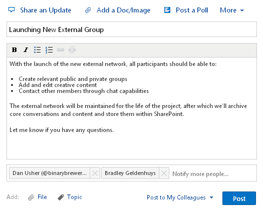 Another 5 Yammer Power User Tips - buckleyPLANET