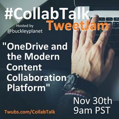 CollabTalk tweetjam November 2015