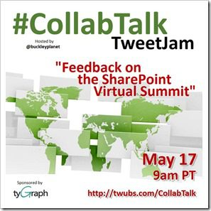 CollabTalk tweetjam May 2017