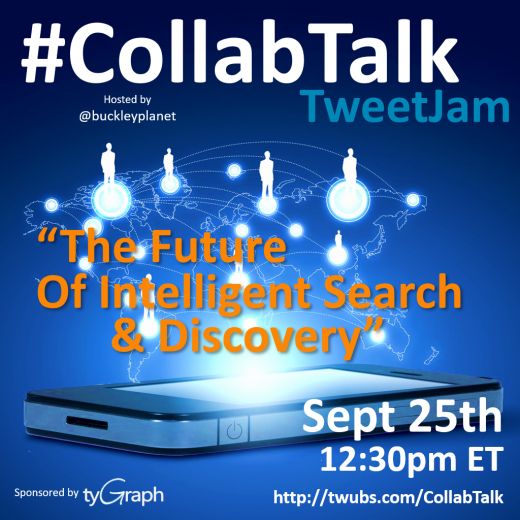The Future of Intelligent Search and Discovery tweetjam with CollabTalk