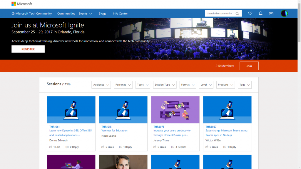 Microsoft Tech Community site