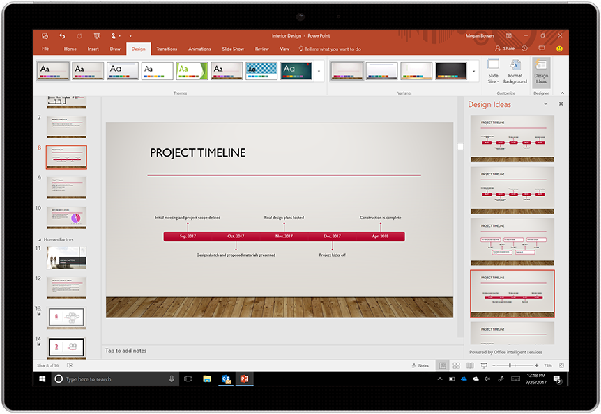 Creating beautiful timelines in PowerPoint