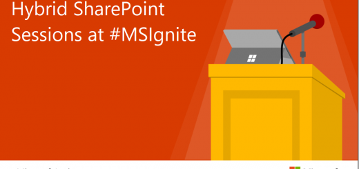 Hybrid SharePoint sessions at MSIgnite