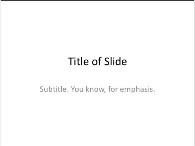 title of slide by buckleyplanet