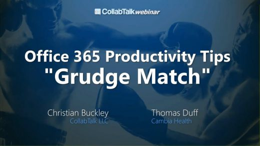 Sep 2017 Office 365 Productivity Tips Grudge Match