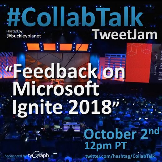 Octgober 2018 CollabTalk TweetJam
