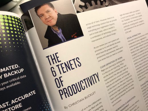 Article on the 6 tenets of productivity from the ESPC18 conference magazine