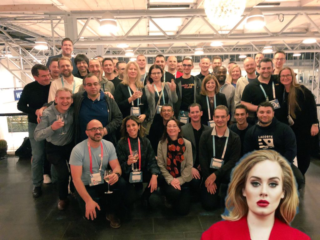 Microsoft RD and MVP participants at ESPC18