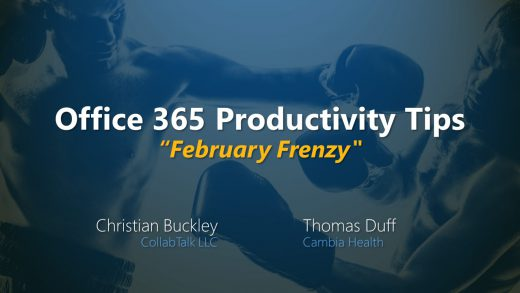 Office 365 Productivity Tips February Frenzy summary
