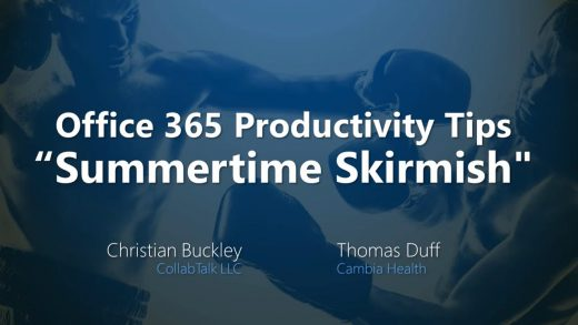 Office 365 Productivity Tips Summertime Skirmish July 2018