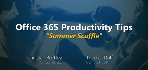 Office 365 Productivity Tips Summer Scuffle June 2019