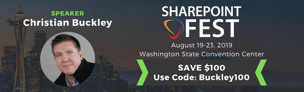 Save $100 on registration to SharePointFest Seattle 2019