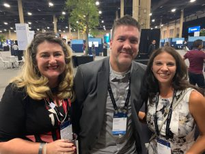 Fellow MVPs Heather Newmand and Stepahnie Donahue at MSInspire 2019