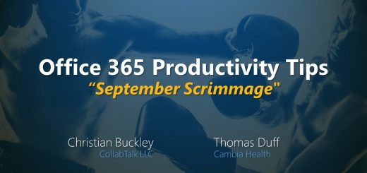 "September 2019 Office 365 Productivity Tips ""September Scrimmage"""
