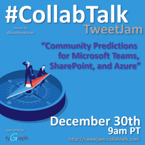 #CollabTalk TweetJam for December 30th, 2019