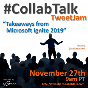 #CollabTalk TweetJam for November 27th, 2019
