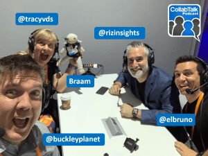 CollabTalk Podcast at #MSIgnite 2019 with @tracyvds @rizinsights @elbruno @buckleyplanet and Braam