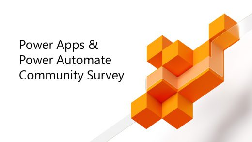 Power Apps and Power Automate Community Survey
