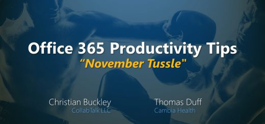 "November 2019 Office 365 Productivity Tips ""November Tussle"""