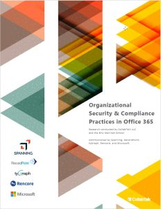 Organizational Security and Compliance Practices in Office 365