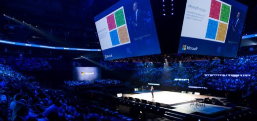 Satya Nadella speaking at the Microsoft Inspire partner conference