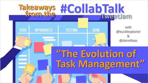 "Takeaways from the February 2020 #CollabTalk TweetJam on ""The Evolution of Task Management"""