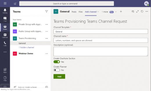 Microsoft Teams team and channel administration