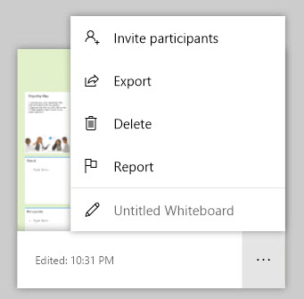 Exporting your final deliverable in the Whiteboard app