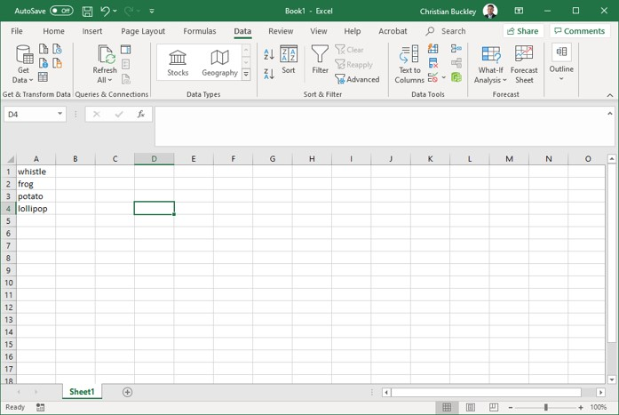Creating your Excel drop-down list