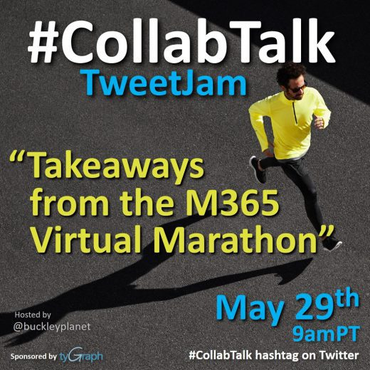 May 2020 #CollabTalk TweetJam on Takeaways from the M365 Virtual Marathon and #MSBuild