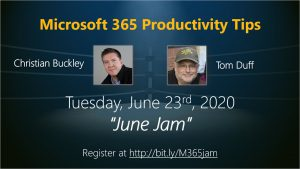 June 2020 Microsoft 365 Productivity Tips webinar - June Jam
