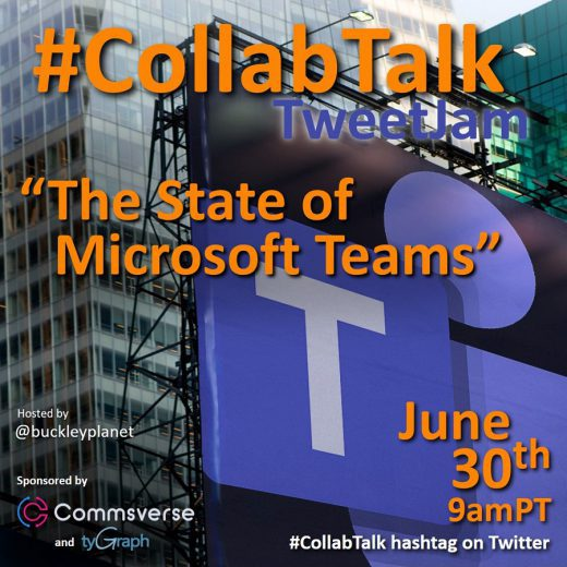 June 2020 #CollabTalk TweetJam on The State of Microsoft Teams