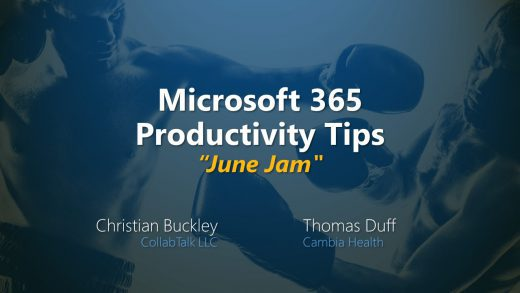 "Microsoft 365 Productivity Tips ""June Jam"""