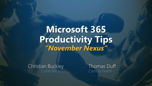 Microsoft 365 Productivity Tips November Nexus from Nov 24, 2020