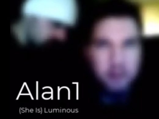 Blurry cover for Alan1 single (She Is) Luminous